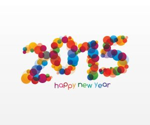 HappyNewYear2015VectorGraphic